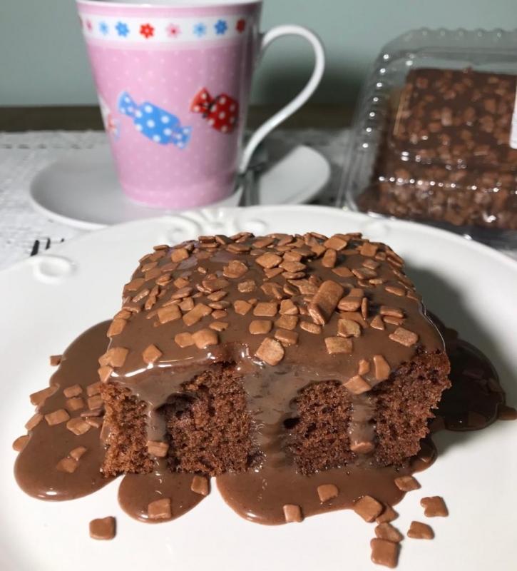 Bolo Natural de Chocolate Valor Sumaré - Bolo Natural de Cenoura