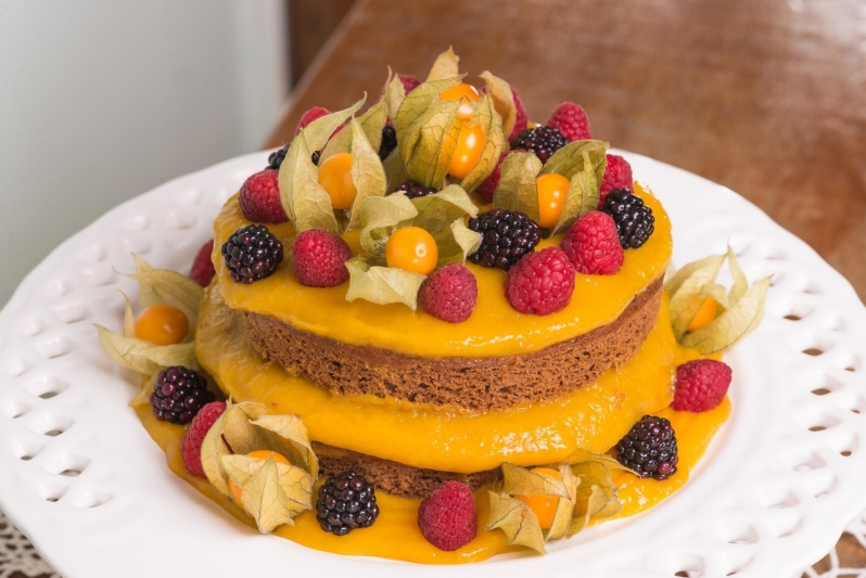 Compra de Naked Cake sem Lactose Vila Sônia - Naked Cake para Festa
