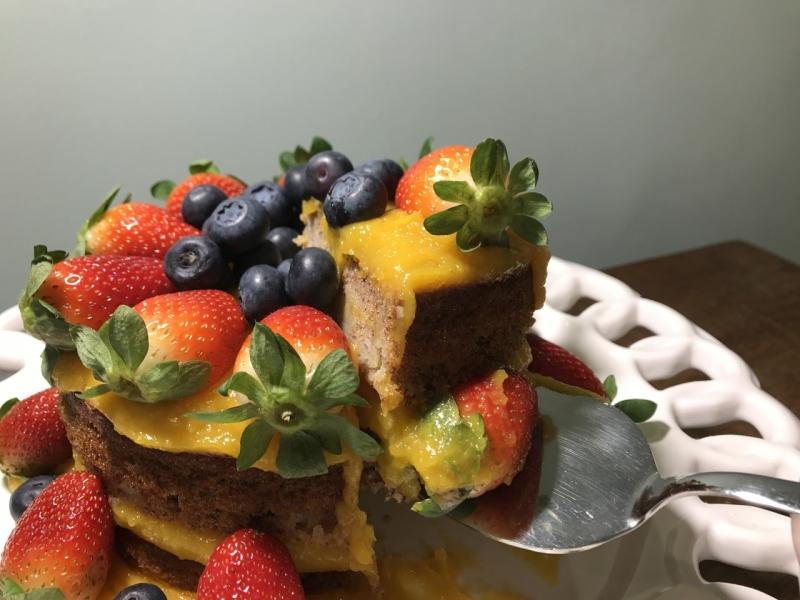 Naked Cake sem Glúten Orçamento Vila Olímpia - Naked Cake de Coco