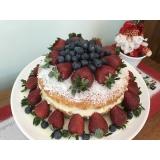compra de naked cake com frutas Barra Funda
