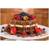 confeitaria de naked cake de chocolate Barra Funda