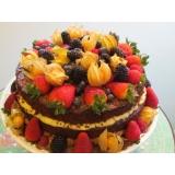 naked cake com frutas Vila Clementino