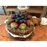 naked cake de chocolate orçamento Pacaembu
