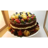 naked cake de chocolate Barra Funda