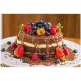 naked cake para aniversário Pacaembu